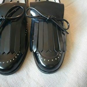 Zara BASIC Fringe Loafers